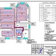 Выполнен проект отопления для дома 297 м.кв. фотография