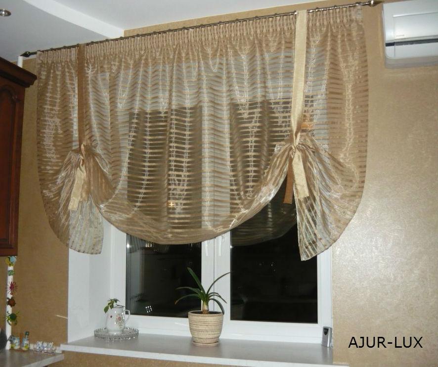 Фото шторы на кухню своими руками