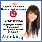 Анника 13, в роли организатора, приглашает на бесплатный семинар от 1С-Битрик фотография