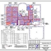 Проект отопления выполнен для дома 421 м.кв.