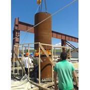 Испытания центратора для вертикальных труб