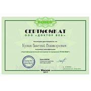 Сертификат менеджера по продажам Dr.Beb