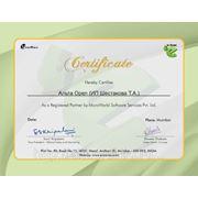 Сертификат Partner (eScan)