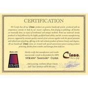 Сертификат на продукцию итальянской фабрики Fadex. Дверные ручки и аксессуары серии Class.  Итальянская фабрика дверной фурнитуры FADEX основана в 1965 году в Ломбардии