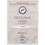 Диплом за участие выставке и конкурсе малый бизнес Молдовы