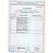 Приложение к сертификату шлагбаумы