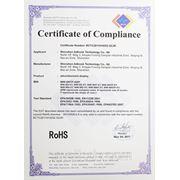 Сертификат RoHS BCTC2011010252-SZJR. Сенсорные и рекламные киоски