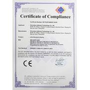 Сертификат CE BCTC2011009251-SZJR. Сенсорные и рекламные киоски