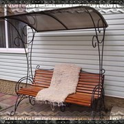 Кованные скамейки фото