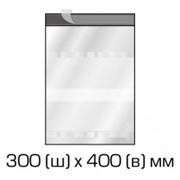 Курьерский полиэтиленовый пакет 300х400 мм. + 40 мм.(клапан) с прозрачным карманом для сопроводительных документов 1000 шт фото