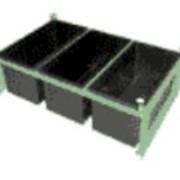 Форма 3 -х местная пластиковая Блок - 3 в металлическом каркасе при заказе до 100 шт. фото