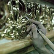 Эмаль акриловая золотая /20кг/ фото