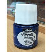 Краска лаковая по стеклу и металлу Pebeo Vitrail/ №37 кобальт синий б.45мл