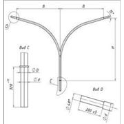 Кронштейн консольный двухрожковый К2К