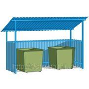 Контейнерная площадка с крышей ( на любое количество контейнеров).