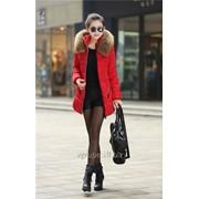 Женская куртка меховой воротник, осень весна, жіноча куртка фото