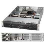 """Supermicro SYS-6027R-N3RF Серверная платформа 2U (2x2011,C606,16xDDR3 1.6*,8x3.5""""HS, 4x3G+2x3G,8xSAS+R0,1,10,PCIE3 2(x8)FF, 2(x8)FH, 2GE,2x740W фото"""