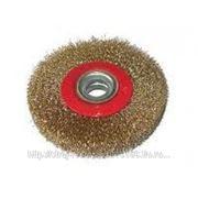 Щетка-крацовка (корщётка) d-150мм-медная круговая фото