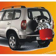 Противосъемная защита запасного колеса Chevrolet Niva (для штампованного диска) фото
