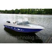 Алюминиевая лодка KingFisher 550 (открытая рыболовно-охотничья мотолодка) фото