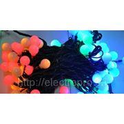 Светодиод.гирлянда с шариками RGBY 100LED 20м тем-зел провод с контроллером фото