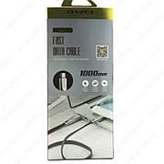 USB Data кабель Awei CL-96 1m (черный с золотистым) фото