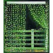 Гирянда Плей-лайт LED XP, 2м х от 1.5м до 3м светодиодный зеленый, красный фотография