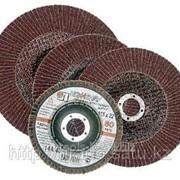 Круг лепестковый торцевой абразивный Луга для шлифования, 115 х 22,23мм, зерно P60 фото
