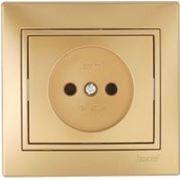 Lezard 701-1313-121 Розетка б/з металлик золото