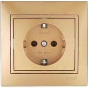 Lezard 701-1313-122 Розетка с/з металлик золото