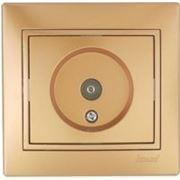 Lezard 701-1313-130 Розетка ТВ оконечная металлик золото