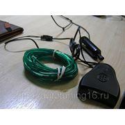 Неоновая нить с контроллером звука. Зеленый (3 метра) фото