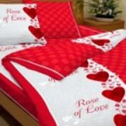 Ткань постельная Бязь 125 гр/м2 150 см Набивная Роза любви 1080-1/S820 TDT фото