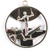 Медаль Спортивная Гимнастика серебро фото