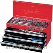 Набор инструментов универсальный, выдвижной ящик, 69 предметов KING TONY 901-069MR01 фото