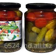 Огурцы, томаты и патиссоны маринованные фото
