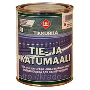 Краска для разметки дорог — Tie- ja katumaali (Тиккурила), белая, 10л фото