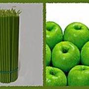 Свеча восковая №80 зеленая с ароматом зеленого яблока фото