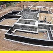 Строительство бетонного фундамента для дома м2 фото