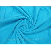 Ткань Флис голубой фото