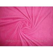 Ткань Флис малиновый фото