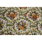 """Джинсовая ткань белая """"Цветы на лугу"""" фото"""