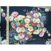 Ткань Атлас - шелк набивной купонный фото