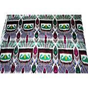 Искусственный шелк с узбекским орнаментом, Лавсан №4 фото