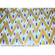 Искусственный шелк с узбекским орнаментом, Лавсан №12 фото