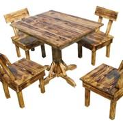 Комплект Дача стол + 4 стулья фото