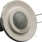 Беспроводной датчик движения, питание от батареек, угол 260 градусов, диаметр 6 м, монтаж в фальшпотолок DM SEN R01 фото