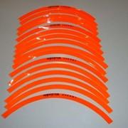 Наклейки на колеса (оранжевые) комплект 16шт. фото