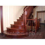 Лестницы из бука и лиственницы фото