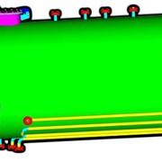 Аппарат горизонтальный цилиндрический с эллиптическими днищами типа ГЦ . фото